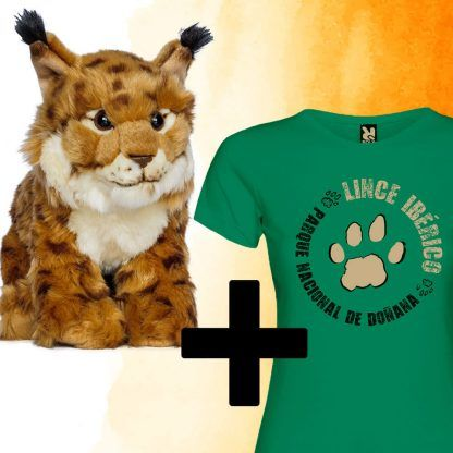 Pack peluche lince+ camiseta mujer