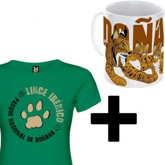 Pack de taza lince iberico y camiseta mujer